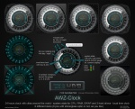 AWZ-Clock (for Rainmeter) by d4f_mac