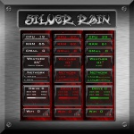 Silver Rain for Rainmeter by Ionstorm_01