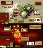 Christmas Holidays Gold Theme by adni18